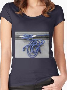 A Tangle of Blue Women's Fitted Scoop T-Shirt