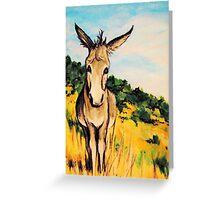 Cripple Creek Colorado~JackAss~Donkey~Burro~Whimsical Greeting Card