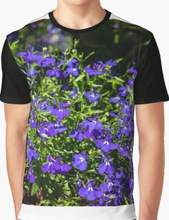 Awesome blue flowers Graphic T-Shirt