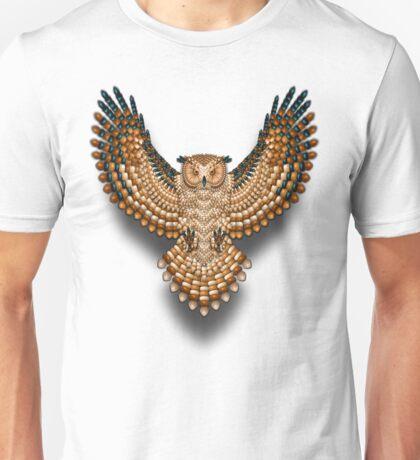 Beadwork Great Horned Owl Unisex T-Shirt