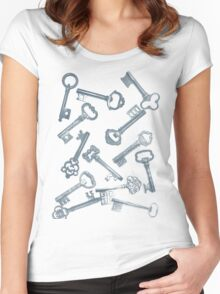 Keys --an experiment in print Women's Fitted Scoop T-Shirt