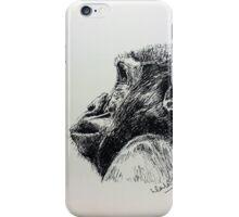 Ape versus a butterfly iPhone Case/Skin