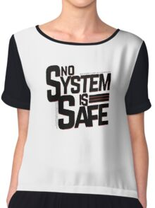 no system is safe Chiffon Top