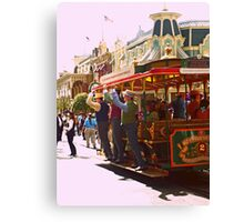 Clang! Clang! Clang! Goes the Trolley Canvas Print