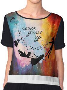 Nebula Never Grow Up Chiffon Top