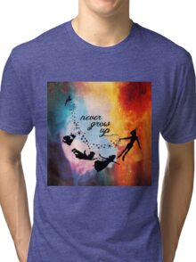 Nebula Never Grow Up Tri-blend T-Shirt