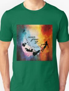Nebula Never Grow Up Unisex T-Shirt