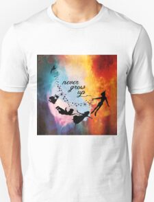 Nebula Never Grow Up Unisex T-Shirt
