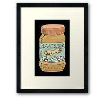 Jar Of Peanut Butter Framed Print