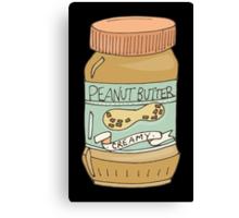 Jar Of Peanut Butter Canvas Print