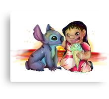 Lilo and Stitch Canvas Print