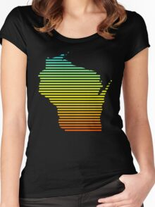 wisconsin chill fade Women's Fitted Scoop T-Shirt
