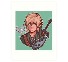 Link- Zelda ocarina of time Art Print