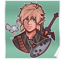 Link- Zelda ocarina of time Poster