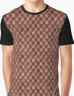 Feather Armor Scales - Copper Graphic T-Shirt