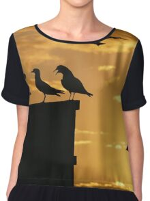 6 birds Chiffon Top