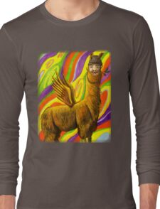 The Flying Llama Dude Long Sleeve T-Shirt