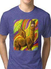 The Flying Llama Dude Tri-blend T-Shirt