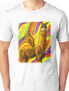 The Flying Llama Dude Unisex T-Shirt