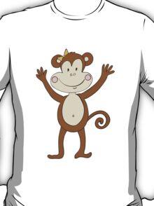 Smiling Girl Monkey T-Shirt