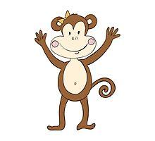 Smiling Girl Monkey by kwg2200