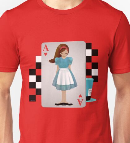 Alice 3D Flying Cards - Cut Out T-Shirt