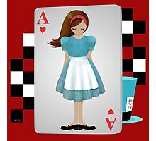 Alice 3D Flying Cards - Cut Out Photographic Print