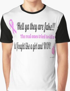Breast Cancer Fighter Graphic T-Shirt