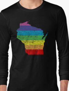 wisconsin rainbow Long Sleeve T-Shirt