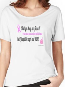 Breast Cancer Fighter Women's Relaxed Fit T-Shirt