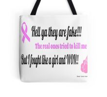 Breast Cancer Fighter Tote Bag