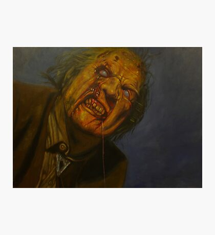 Cemetery Zombie Night of the living dead. Photographic Print