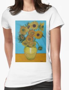 Vincent Van Gogh, sunflowers Womens Fitted T-Shirt
