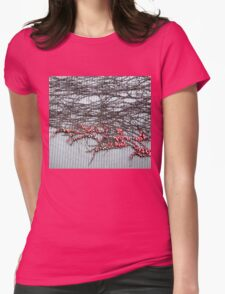 red autumn Womens Fitted T-Shirt