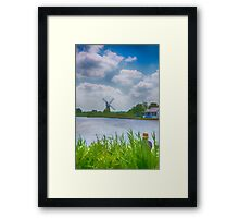 Fishing the Norfolk Broads  Framed Print