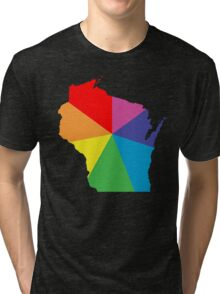 wisconsin color burst Tri-blend T-Shirt