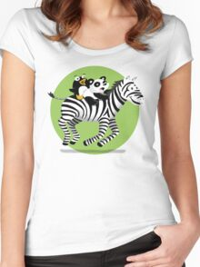 Black and White Buddies Women's Fitted Scoop T-Shirt