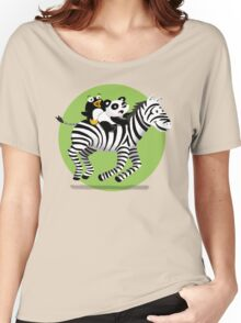 Black and White Buddies Women's Relaxed Fit T-Shirt