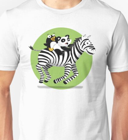 Black and White Buddies Unisex T-Shirt