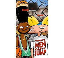 White Men Cant Jump (Hey Arnold) Photographic Print