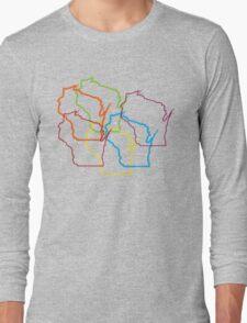 wisconsin pride blur Long Sleeve T-Shirt