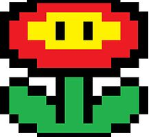 Mario Brothers Flower by callmeJkay