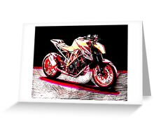 KTM SuperDuke 1290 Greeting Card