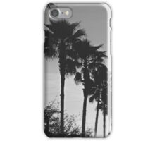 Black & White Palm Coast iPhone Case/Skin