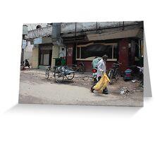 Street Scene Koti Hyderabad Greeting Card