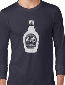 Maple Syrup on Dark Background Long Sleeve T-Shirt