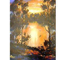 Sunset on Brisbane River Photographic Print