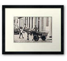 Good Old Fashion Transport Framed Print
