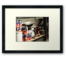 Scale and Canned Goods Framed Print