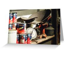 Scale and Canned Goods Greeting Card